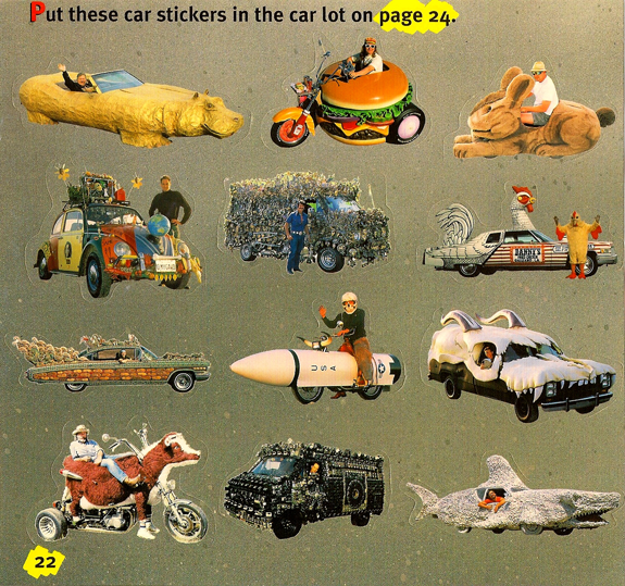 12 Art Car Stickers by Harrod Blank